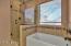 Tiled Shower With Glass Door