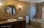 Master bathroom with jetted bathtub.