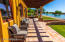 wood beam covered arbor patio outside living/dine/kitchen great room of the casita / dock located to the right / greatest guest house view in Arizona !!