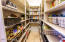 Pantry with full shelving 7 high with TOP shelf for large storage .