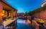 Evening photos of pool and patio