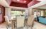 Recessed lighting adds the finishing touches