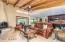 Vaulted wood ceiling with beams