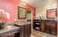 Redesigned and remodeled master bathroom