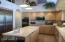 Kitchen with new refrigerator