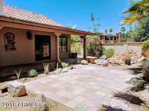 Mature landscaping makes for a lush desert retreat all while being low-maintenance and water-efficient.