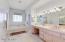 Large vanity in master bathroom