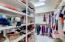 Large walk around master bedroom closet