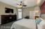 Master bedroom has separate entrance that leads to the back yard retreat.