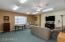 Basement family room provides a private retreat.