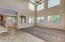 Family Room with Soaring Ceilings