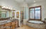 Master bath with separate shower and tub.
