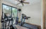 Master bedroom fitness room--could also be sitting room or additional office.