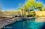 The water feature makes this backyard a tranquil paradise.