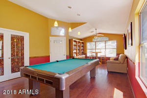 Enjoy entertaining your friends and family in a home boasting barn scraped wood floors.