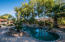 HEATED PEBBLE TECH POOL AND SPA. SALT WATER SYSTEM
