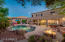 Waterfalls, fire pit and jacuzzi