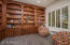 Handsome Library with Beautiful Built-In Shelves