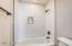 Newly remodeled bath. Shower doors have been installed.
