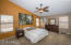 Vaulted ceilings in the master suite gives an even more spacious feel