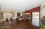 You'll love this large great room with wood floors and vaulted ceiling