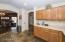 Beautiful slate floors in the kitchen