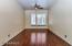 Perfect game room, pool table room, kids play area or open den.