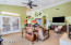 Family Room - Open, Vaulted Ceiling, Double-Door Access to Rear Patio and Yard