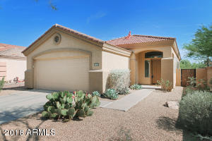 Prime Location! This home resides on a corner lot that also backs to a desert arroyo. Abundant Privacy!
