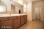 master bath- dual sink, extra linen closet and private toliet