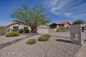 Desert landscape and careful selection of materials makes this property easy to maintain.