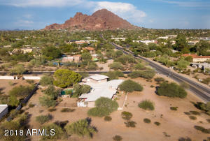 Oversized corner lot with views of Camelback Mountain