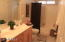 Downstairs bathroom-2 sinks, tub/shower