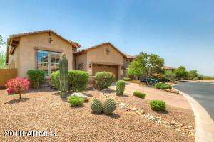 Front yard with mature desert landscape