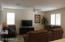 GREAT ROOM, CEILING FANS AND PLANTATION SHUTTERS