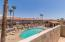 Upstairs balcony overlooking pool