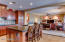 The open floor plan allows you unobstructed views from the kitchen.