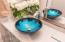 Custom made glass vessel sink
