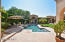Gorgeous cantera decking & pristine pool/spa make entertaining a joy!!