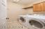 Washer, dryer, upper cabinet