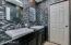 Main bath floor to ceiling tile