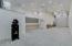 Double deep RV garage with work bench automatic door