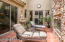 """Access through sliding doors off dining room and kitchen. The fountain offers a soothing background -- think """"surround sound"""""""