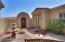 Front courtyard and door to casita