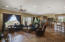 Great room w/view of the back patio and golf course
