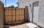 Double-gate makes backyard access easy.
