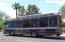 Scottsdale Trolley stops outside the gate on Earll St.
