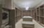 Beautiful, ample sized master closet. Stackable washer and dryer.