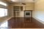Huge Family Room off the Kitchen with REAL Hardwood Floors!