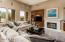 Beautiful great room and gas fireplace.